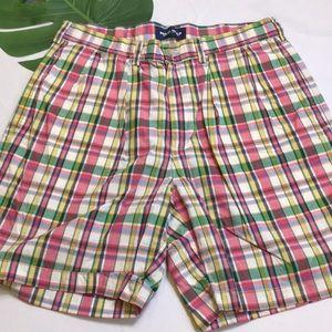 🐎Preppy Polo Golf Cotton Plaid Shorts 34🐎